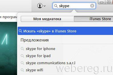 поиск Skype