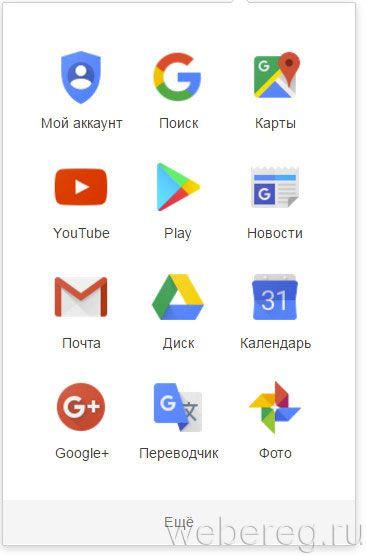 сервисы Гугла