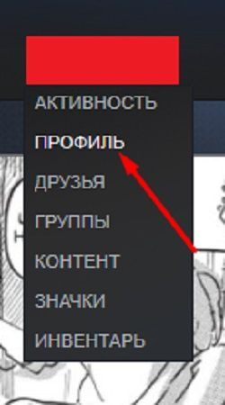 Выбор профиля