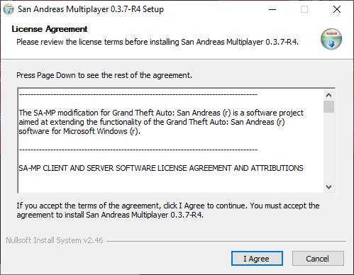 Установка расширения San Andreas Multiplayer