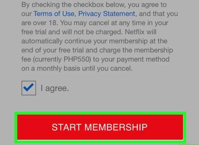 кнопка «Start Membership»