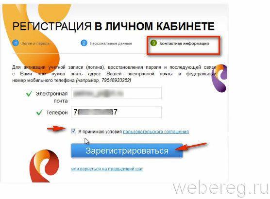 email и телефон