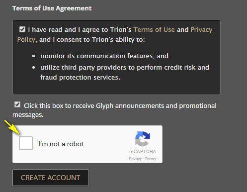 Принятие пользовательского соглашения